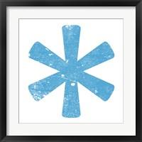 Framed Blue Asterisk