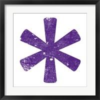Framed Purple Asterisk