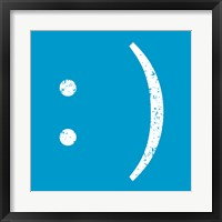 Framed Blue Smiley