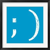 Framed Blue Wink Smile