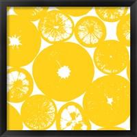 Framed Yellow Lemon Slices