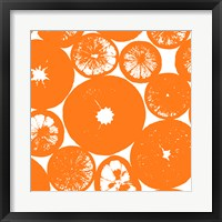 Orange Lemon Slices Framed Print
