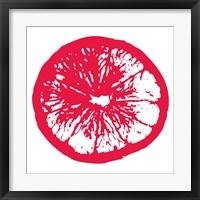 Framed Red Orange Slice