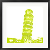 Framed Pisa in Lime