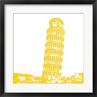 Framed Pisa in Yellow