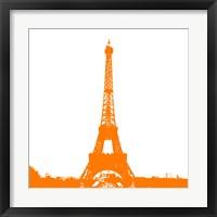 Framed Orange Eiffel Tower