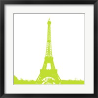 Framed Lime Eiffel Tower
