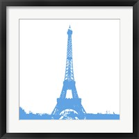 Framed Blue Eiffel Tower