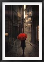 Framed Red Rain