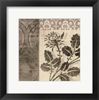 Framed Flora Antiqua I