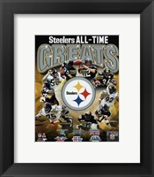 Framed Pittsburgh Steelers All Time Greats Composite