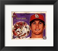Framed David Freese 2013 Studio Plus