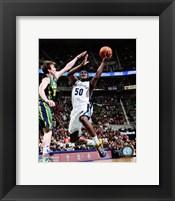 Framed Zach Randolph 2012-13 on the court