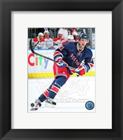 Framed Derek Stepan on ice 2012-13