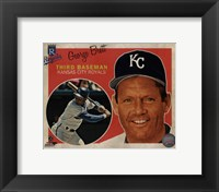 Framed George Brett 2013 Studio Plus