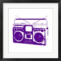 Framed Purple Boom Box