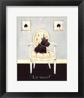 La Woof Framed Print