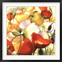 Framed Poppies Up Close