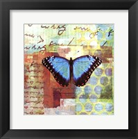 Homespun Butterfly III Framed Print