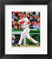 Framed Ryan Zimmerman 2013 batting