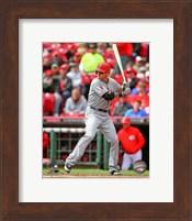 Framed Josh Hamilton Awaiting Baseball Pitch