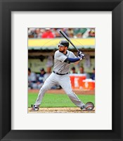Framed Dustin Ackley Baseball Hitting Action