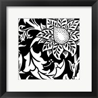 Framed B&W Graphic Floral Motif II