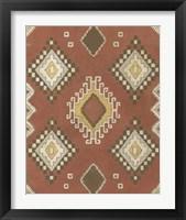 Non-Embellished Native Design II Framed Print