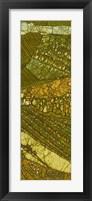 Vineyard Batik II Framed Print