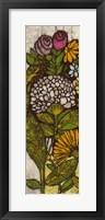 Batik Flower Panel I Framed Print