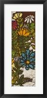 Batik Flower Panel II Framed Print