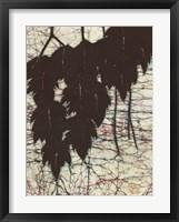 Framed Batik Hanging Leaves I