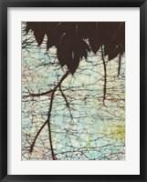 Framed Batik Hanging Leaves II