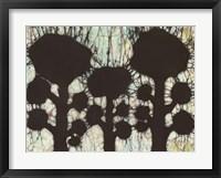 Framed Batik Hedges I