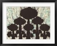Framed Batik Hedges II