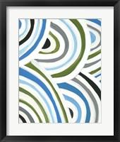 Swirly Bob I Framed Print