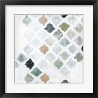 Framed Turkish Tile I
