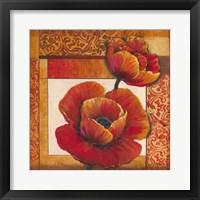 Poppy Pattern I Framed Print