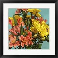 Framed Vibrant Bouquet I