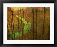 Woodblock Stream I Framed Print