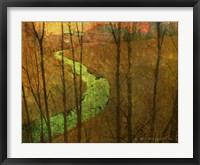 Framed Woodblock Stream I