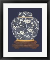 Framed Blue & White Ginger Jar I