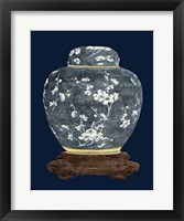 Framed Blue & White Ginger Jar II