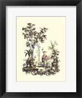 Framed Oriental Garden II
