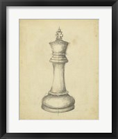 Framed Antique Chess I