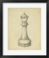 Framed Antique Chess III