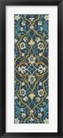 Framed Cobalt Tapestry I