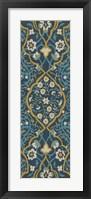 Framed Cobalt Tapestry II