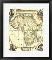 Framed Nautical Map of Africa