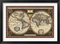 Framed Decorative World Map